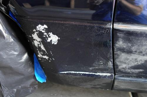 Front quarter panel damage.