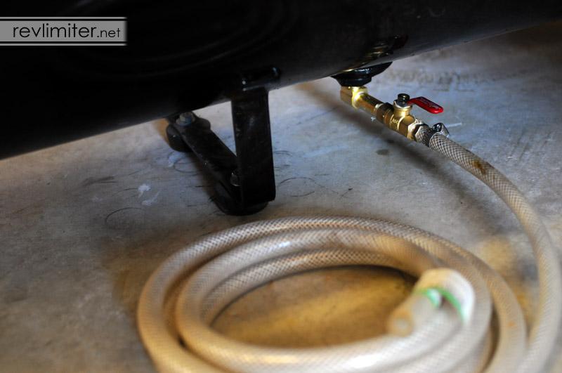 Air compressor drain valve mod — revlimiter