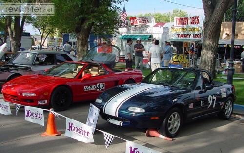 2002: Sharka in CS Solo2 regalia for an SCCA car show