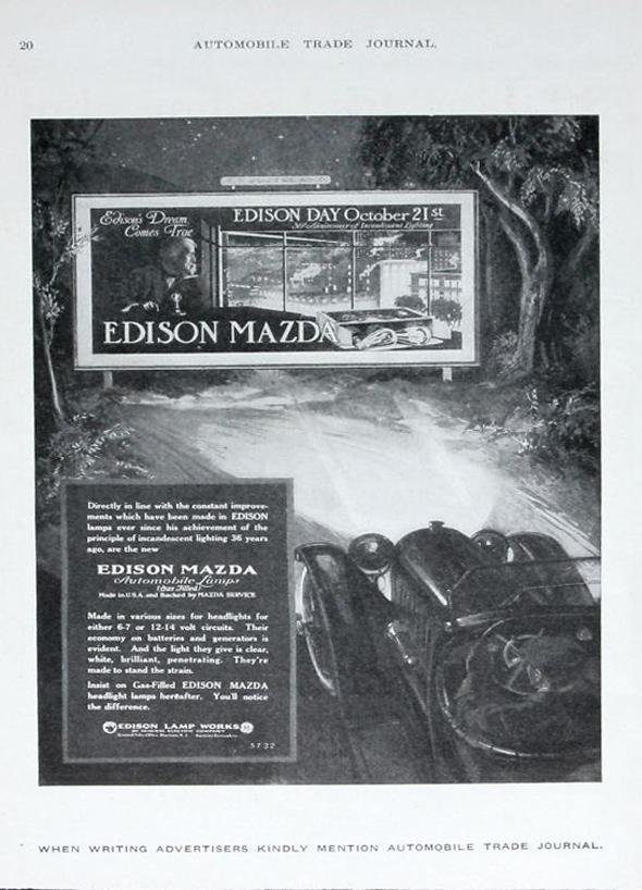 Edison Mazda - a day before my birthday!