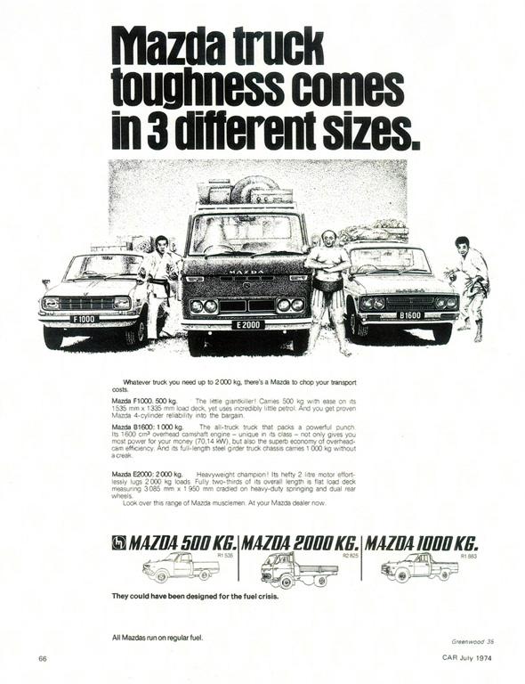 Vintage Mazda trucks