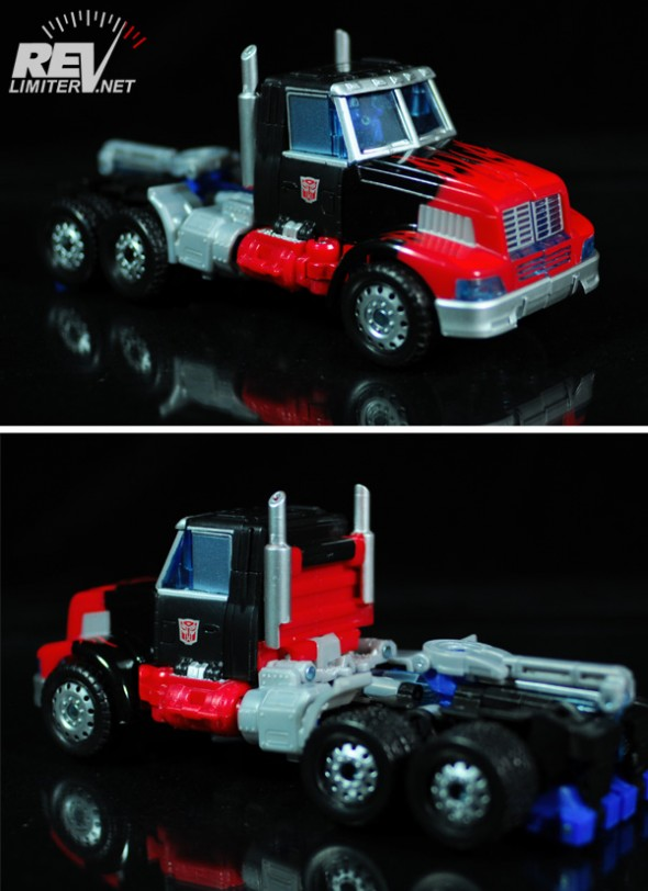 Truck mode front and rear.