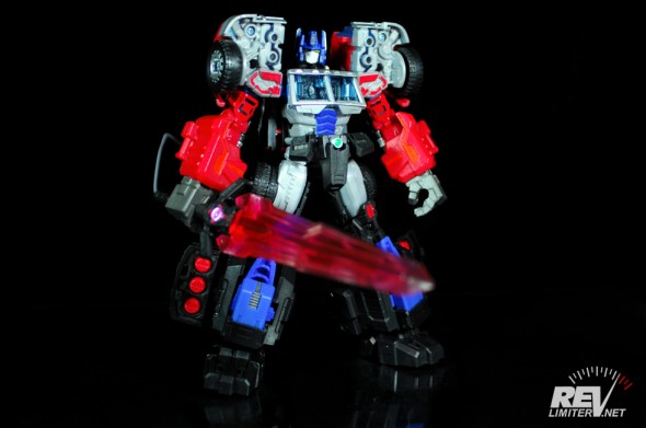 Laser Optimus Prime - armored