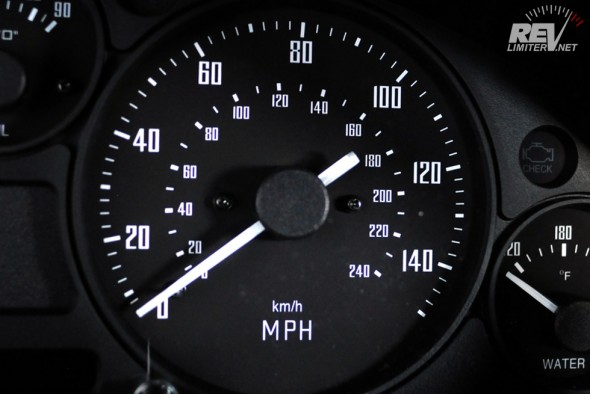 Speedometer featuring dual scales.