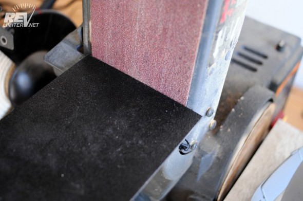 ... sand on the belt sander...