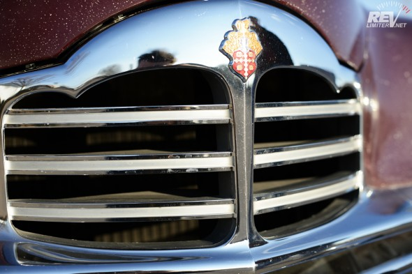 Original grill with factory silver paint inlay.