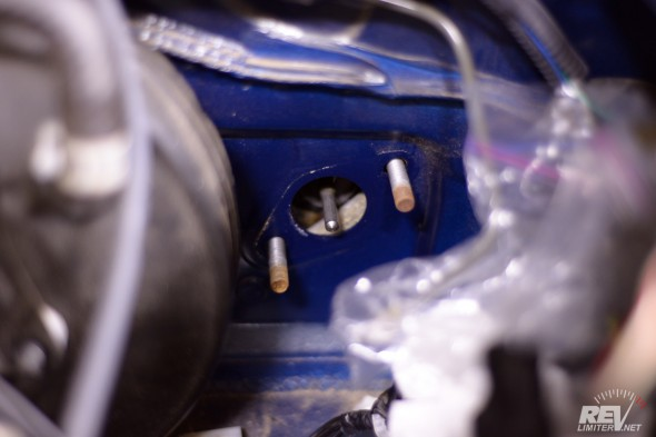 Remove the master cylinder.