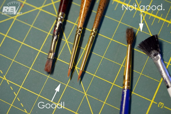 Use good art brushes. Leave the crappy ones in a drawer.