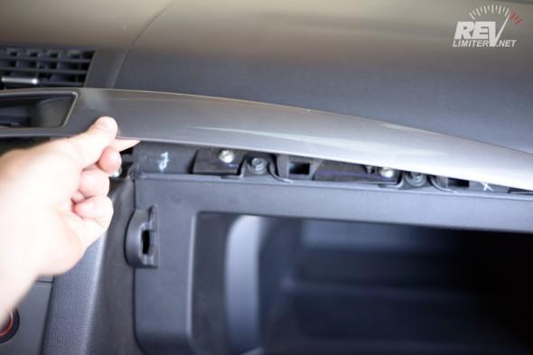 Pull the trim panel free.
