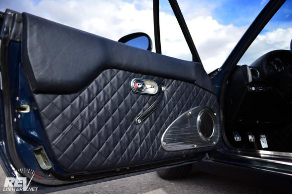 Leather door panels - installed.