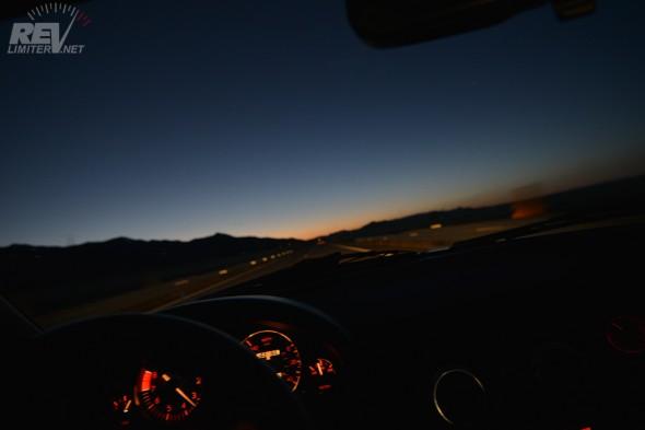 Sunset. Still driving.