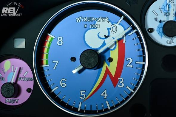 Rainbow Dash Wingpower gauge.