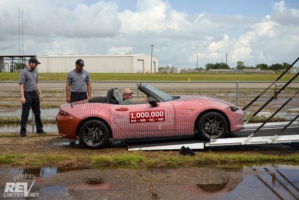 The Millionth Miata appears.