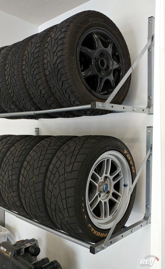 Tire storage detail.