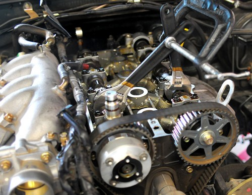 The 2-wrench timing belt trick