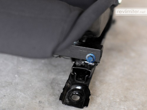 Front seat bracket mod