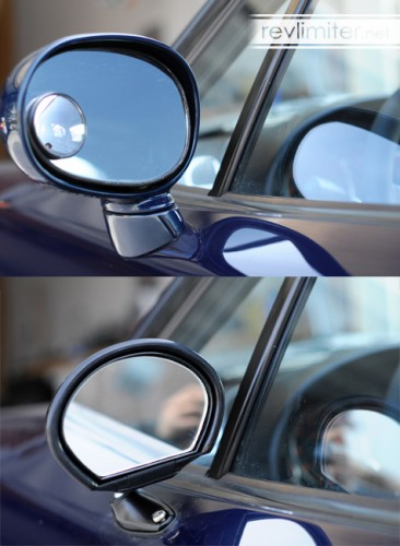 Mirrors before and after - rear