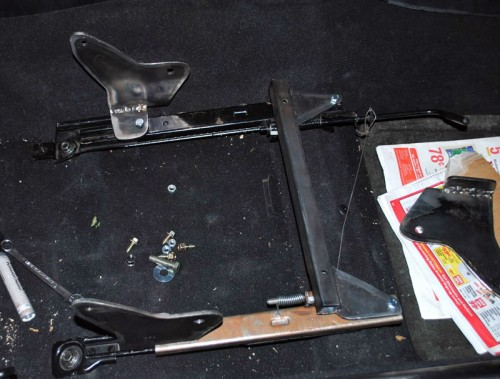 Chance91 Elise seat brackets - photo by Nick