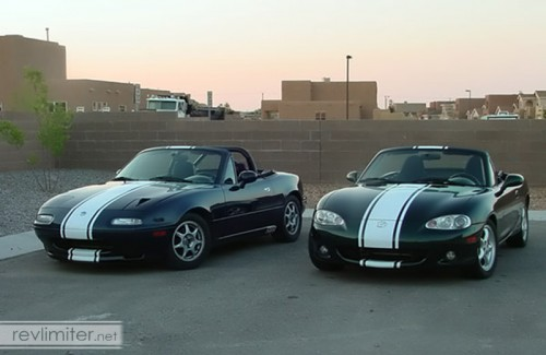 2005: Sharka with my wife's Miata, Bucky
