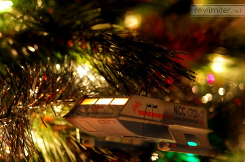 Shuttlecraft Galileo explores strange new trees.