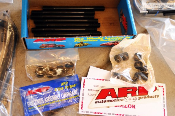 ARP head studs from 949 Racing.