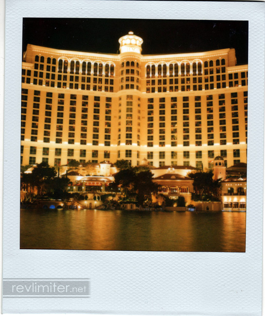 The Bellagio. My room was at the top of the middle segment, towards the left.