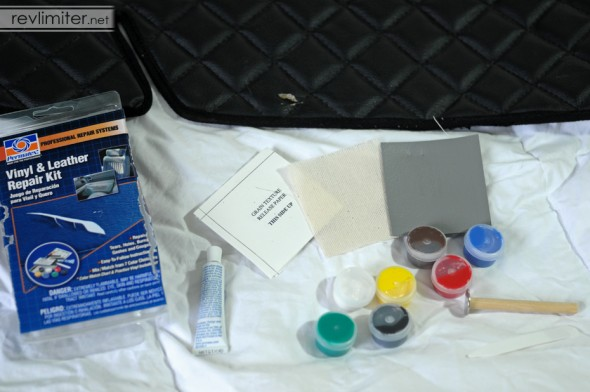 The Permatex vinyl repair kit.