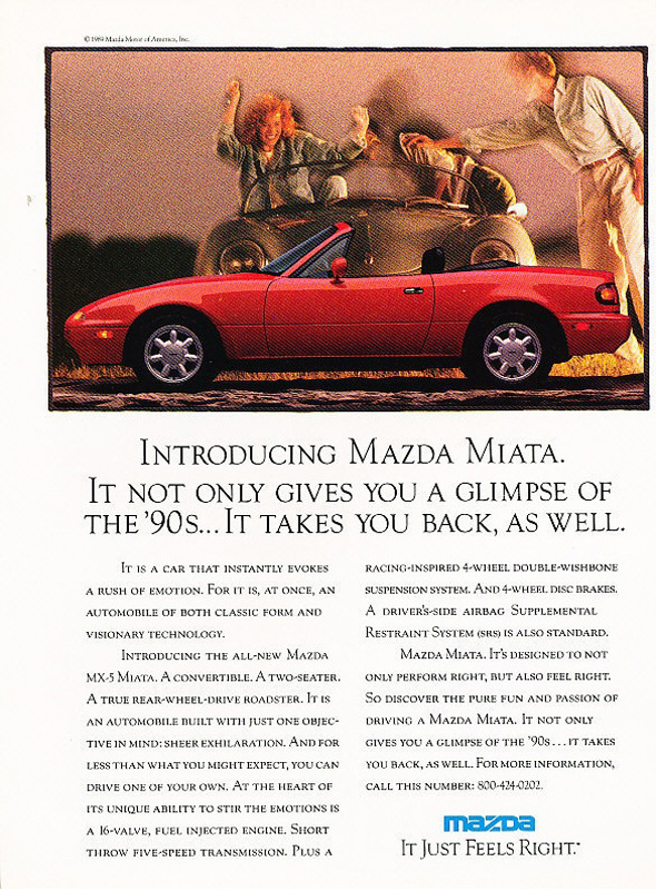 The first Miata ad.
