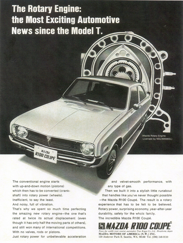 The first rotary engine ad.