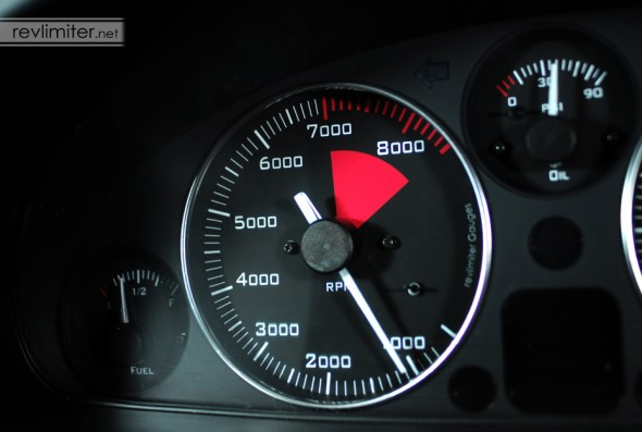 The tach - perfect for a race car.