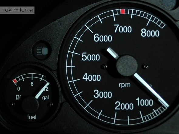 Tach, fuel, and high beam