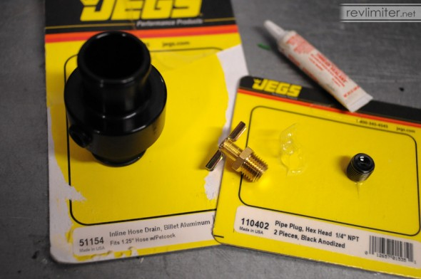 In-line Drain Kit with 1/4 NPT plug.