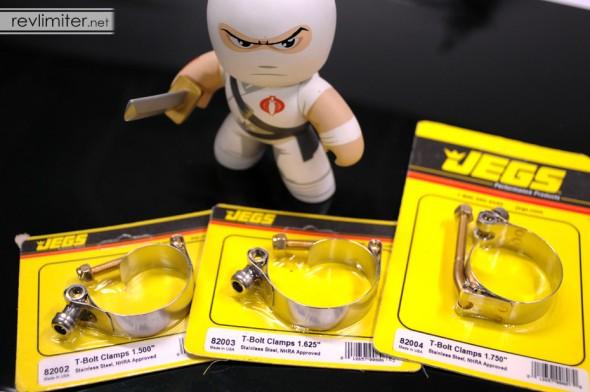 T-bolt hose clamps.