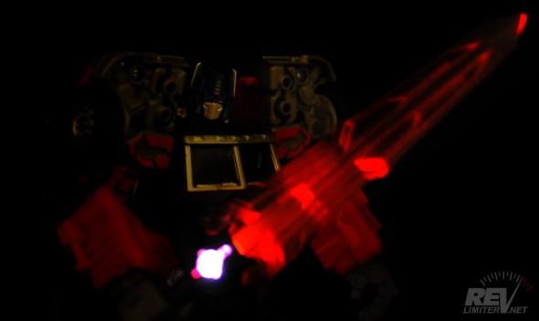 The glowing Laser Sword of Doom