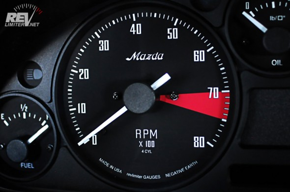 The tachometer.
