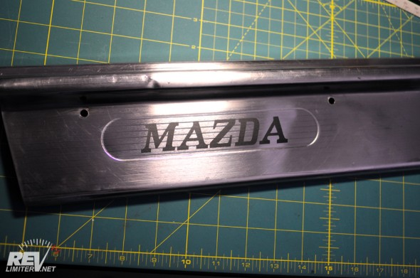 Vintage Mazda sticker applied.