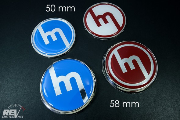 2 flavors of badges - 58mm and 50mm.