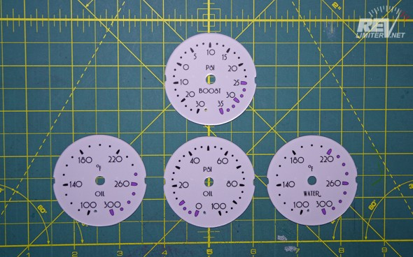 And a set of faces for AEM analog gauges.