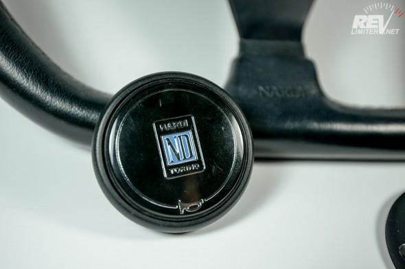Horn button.