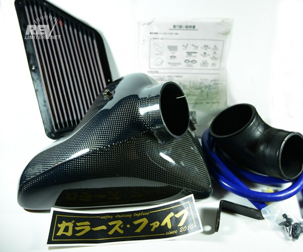 The D-Techniques carbon fiber intake.