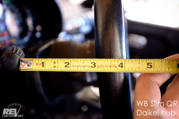 Steering wheel to signal distance