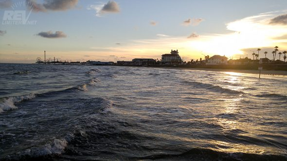 Galveston at sunset.