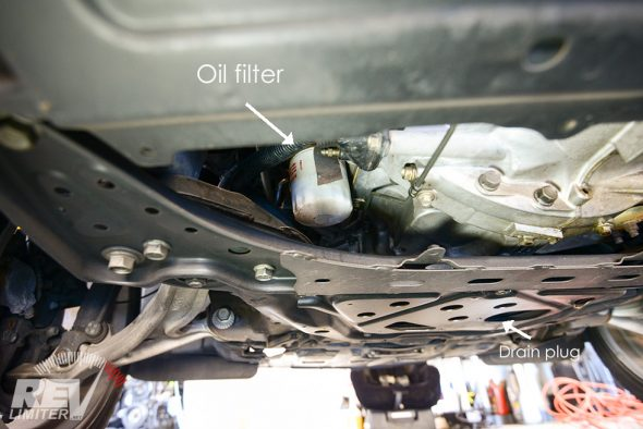 Oil filter location.