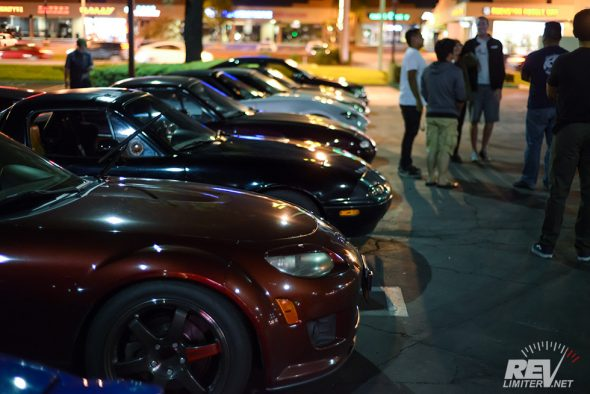 Row of Roadsters