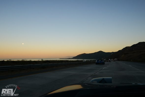 Sunrise on Highway 1.