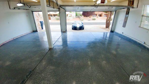 Finished flooring.