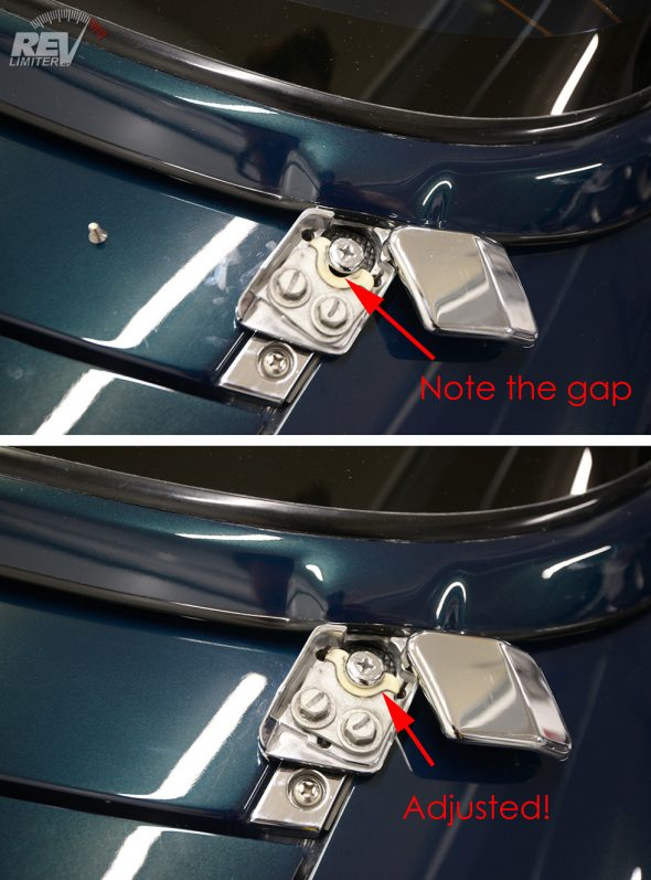 Hardtop grabber adjustment