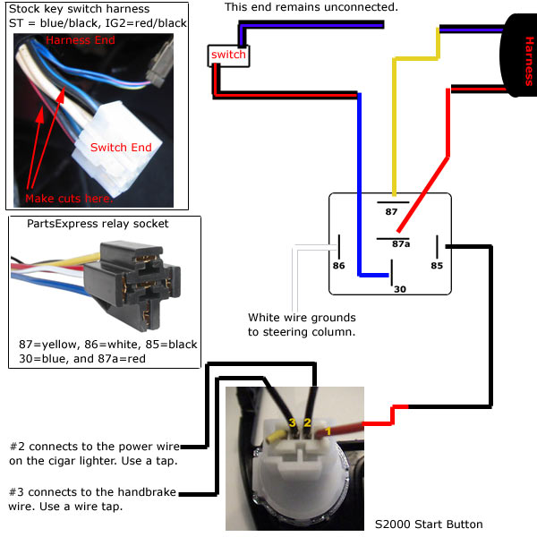 revlimiter net s2000 starter button 90 97 version master wiring diagram
