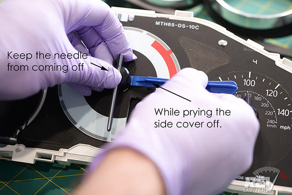 Remove needle side cover